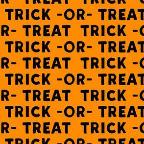 trick or treat - black on orange - halloween - LAD19
