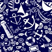 Doddles Pattern - Nautical