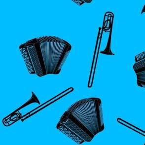 accordion and trombone blue
