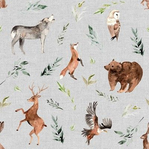 "8"" Run Wild Woodland // Gray Linen"