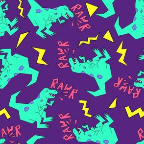 dino rawr - purple