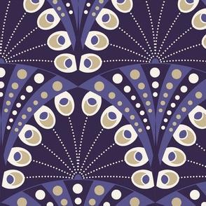 Art Deco PeacockFeather 'luxury purple'