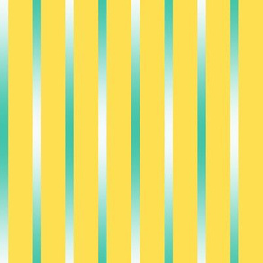 BYF4 - Bluegreen  Gradient Pinstripes on Brilliant Yellow