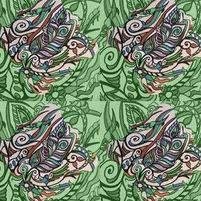 Feder grün by mklifestyle