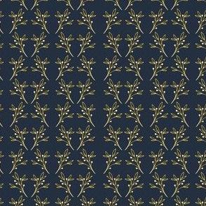 Gold Twigs on Midnight Blue