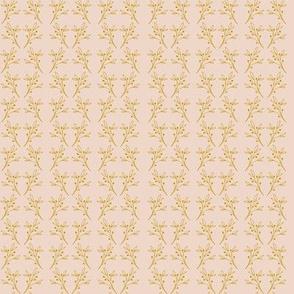 Gold Twigs on Moonlit Blush