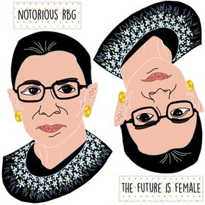 Ruth Bader Ginsburg Applique Two-fer!