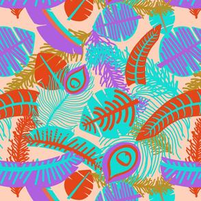 Festive Feathers-Assorted-Orange Sherbert