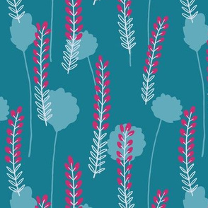 Heather on the Moors - Teal and Magenta