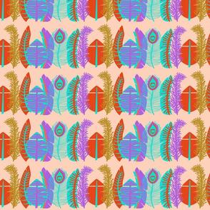 Festive Feathers-Rows-Orange Sherbert