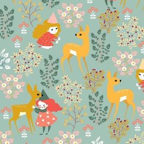 deer and fairies