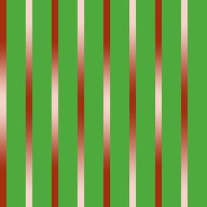 BYF5 - Gradient Burnt Orange Stripes on Green