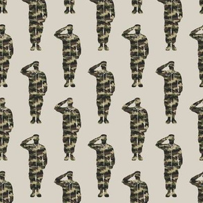 soldiers - camo - military- salute- LAD19