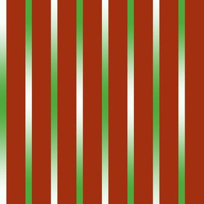 BYF5 -  Green Gradient Pinstripes on Burnt Orange