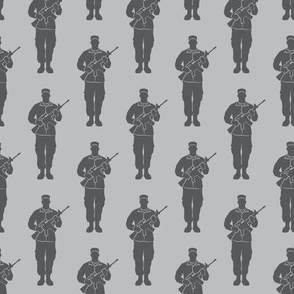 soldiers - grey on grey - military - LAD19