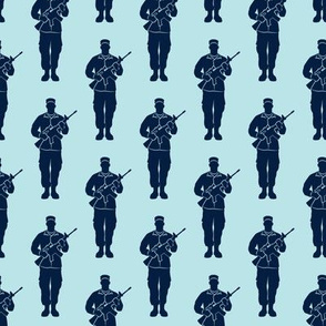 soldiers - navy on blue - military - LAD19