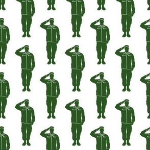 soldiers - green - military- salute- LAD19