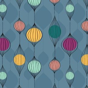 Midcentury Hanging Baubles And Beads
