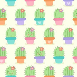 Colorful Smiling Cute Cacti