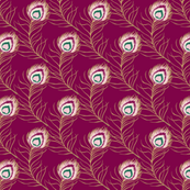 peacock - maroon