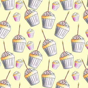 Cupcakes and Candles birthday pattern