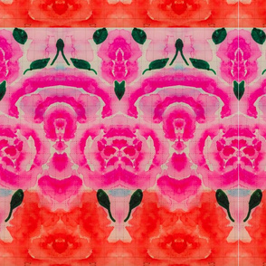 Coral and pink flower power