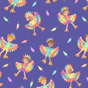 Bird Kids Blue
