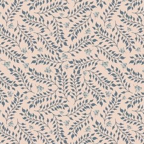 Calm Breeze-  Denim on Petal Blush