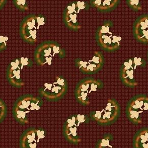 Calico Clover - Maroon