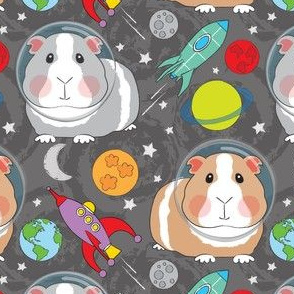 large guinea-pigs-in-space on charcoal