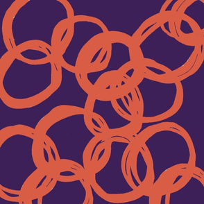 Going around in circles in Reverse!  Orange on Purple
