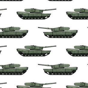 tanks - military vehicles - green - LAD19
