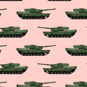 tanks - military vehicles - green on pink - LAD19