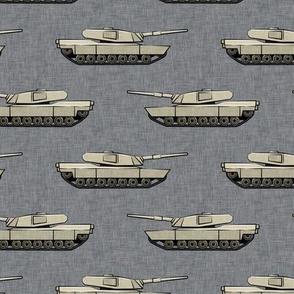 tanks - military vehicles - tan on grey - LAD19
