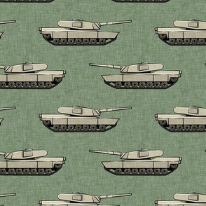 tanks - military vehicles - tan on sage - LAD19