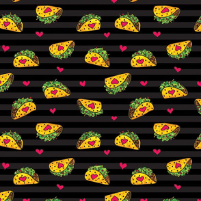 Taco bout love black stripes