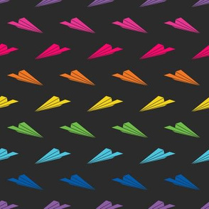 Paper Airplanes (Dark Rainbow)