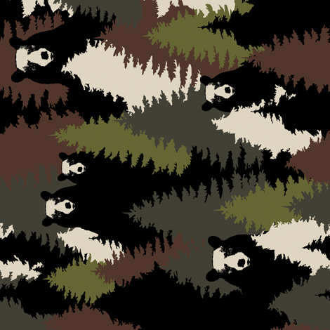 Bears Camouflage - Vertical fabric by kimsa on Spoonflower - custom fabric