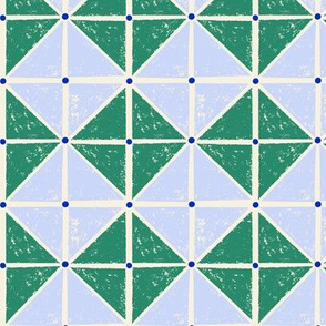 sketchy squares - blue and green