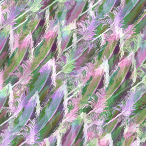 Feather Fancy — Pink • Green • Lavender