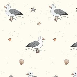 Serene Seagulls