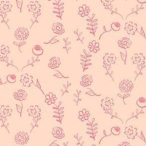 Floral Navettes - Peach