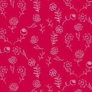 Floral Navettes - Cherry