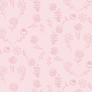 Floral Navettes - Baby pink