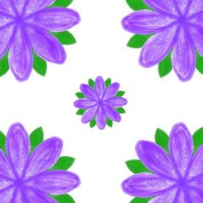 Purple Water Lily-White