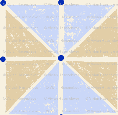sketcy squares - blue and tan