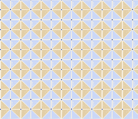 sketcy squares - blue and tan fabric by vivdesign on Spoonflower - custom fabric