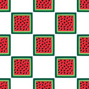 Watermelon Slice Checker Board 100