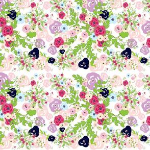 shabby bouquet row- peachy keen