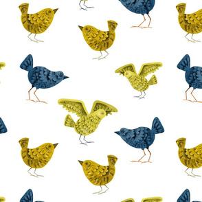 Bird Cuties - Blue and Yellow